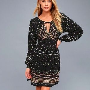 Free People Coryn Mini Dress Black Comb